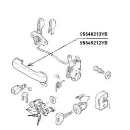 klamka zewnętrzna Citroen C15 przód prawa 05652-