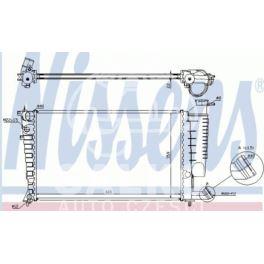 chłodnica Citroen XSARA/P306 1,4-1,8 +/-AC - zamiennik duński NISSENS