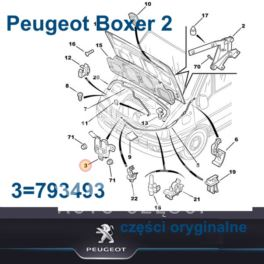 zatrzask maski Citroen JUMPER II/ Peugeot BOXER 2 (oryginał Peugeot)