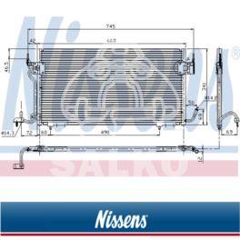 chłodnica klimatyzacji Citroen BERLINGO/ XSARA - zamiennik duński NISSENS