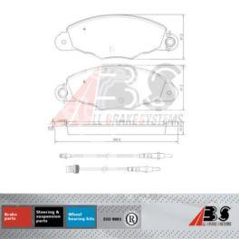 klocki hamulcowe Citroen, Peugeot 99- 2,0HDi BOSCH - zamiennik holenderski A.B.S.