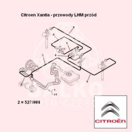 przewód LHM Citroen XANTIA zasilający 840mm |- (oryginał Citroen)
