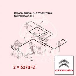 przewód LHM Citroen XANTIA zasilający 751mm (oryginał Citroen)