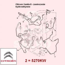 przewód LHM Citroen XANTIA zasilający 990mm (oryginał Citroen)