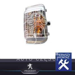 kierunkowskaz - migacz boczny Citroen Jumper III/ Peugeot BOXER 3 prawy w lusterku żółty (oryginał Peugeot)