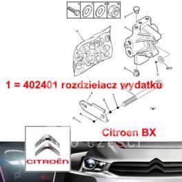 rozdzielacz - rozgałęźnik hydrauliczny Citroen BX do wspomag.(zielony) (oryginał Citroen)
