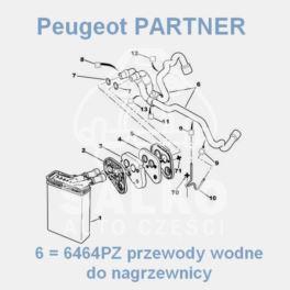 przewód nagrzewnicy PARTNER 2-przew.kpl 1,8 (oryginał Peugeot)