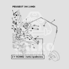 przewód spalinowy Citroen, Peugeot 2,0HDi kol/EGR CEE95 (oryginał Peugeot)