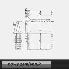 nagrzewnica - wkład Renault ESPACE III lewa lub prawa - zamiennik Hart