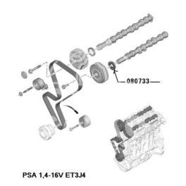 uszczelniacz silnika 24x50x8   WRR PSA ECH (oryginał Peugeot)
