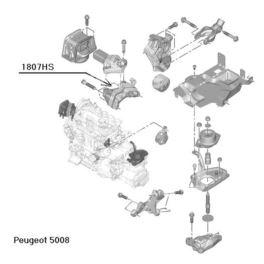 łapa silnika Citroen, Peugeot 1,6HDi prawa, wspornik poduszki (oryginał Peugeot)