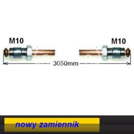 przewód hamulcowy metalowy KANGOO tył 3050mm centralny lewy - nowy dorabiany