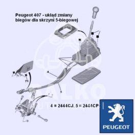 linka zmiany biegów Peugeot 407 BE4T (wybór) (oryginał Peugeot)