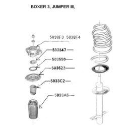 poduszka amortyzatora JUMPER/BOXER lewa 2006- (oryginał Peugeot)