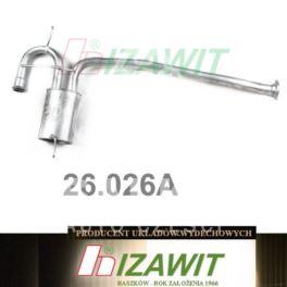 tłumik Renault 19 1,7/1,8/1,9TD środkowy +KAT - zamiennik polski Izawit