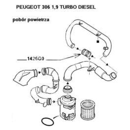 tulejka przewodu powietrza Citroen, Peugeot 1,9TD -OPR07664 (oryginał Peugeot)