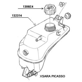 zbiornik wyrównawczy XSARA PICASSO 1,6-16v - 2,0-16v (oryginał Citroen)