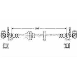 przewód hamulcowy elastyczny LAGUNA II przód (niemiecki producent TRW)
