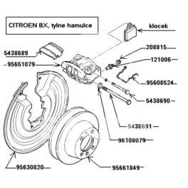 reperaturka zacisku tył Citroen BX/XM/XANTIA - sprężynka klocka (oryginał Citroen)