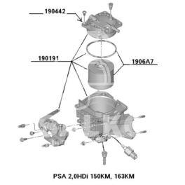 filtr paliwa Citroen, Peugeot 2,0HDi 2009- 150/163KM (wkład) (oryginał Peugeot)