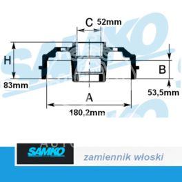 bęben hamulcowy CLIO I/ SUPER5/ Renault 19 - zamiennik włoski SAMKO