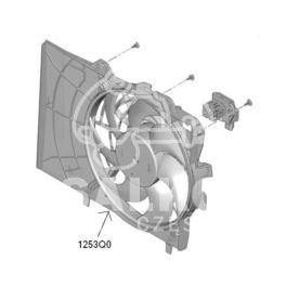 wentylator chłodnicy Citroen C3/DS3 W+S+T (2) z czerpnią (oryginał Citroen)