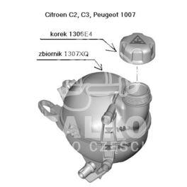 zbiornik wyrównawczy C2/C3/1007 benzynowe -| (oryginał Citroen)