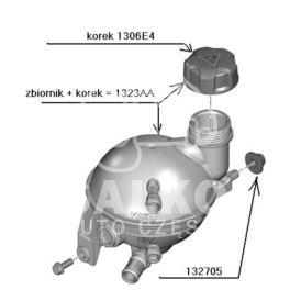 zbiornik wyrównawczy C4/307/308 HDi (3) (oryginał Citroen)