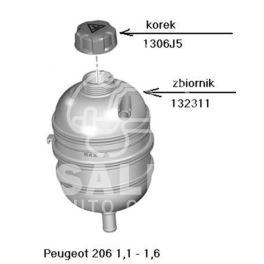 zbiornik wyrównawczy Peugeot 206 1,1-1,6-16v (oryginał Peugeot)