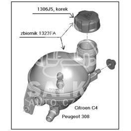 zbiornik wyrównawczy C4/DS4/P307 II/P308 (oryginał Peugeot)