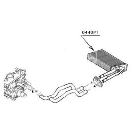 nagrzewnica - wkład Citroen C1/107 1,0 (oryginał Peugeot)