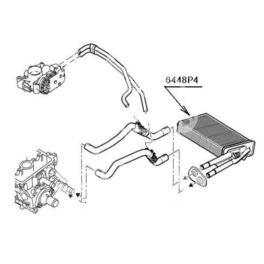 nagrzewnica - wkład Citroen C1/107 1,4HDi +/-AC (oryginał Peugeot)