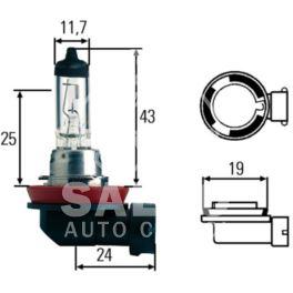 żarówka H8 35W 12V halog p/mg (oryginał Peugeot)