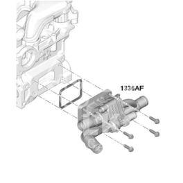 termostat Citroen, Peugeot 1,6HDi (z obudową + czujnik) zgięty (oryginał Peugeot)