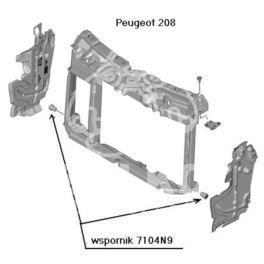 wspornik tunelu wentylatora chłodnicy C2/../1007/... (oryginał Peugeot)