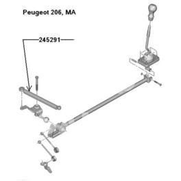 cięgno biegów Citroen, Peugeot 320/9+12 MA Peugeot 206  - zamiennik francuski SASIC