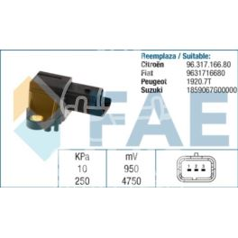 czujnik podciśnienia Citroen, Peugeot 2,0HDi/2,2HDi - hiszpański zamiennik FAE
