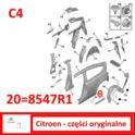 listwa błotnika C4 3-drzwiowy lewa, tył, czarna (oryginał Citroen)