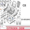 linka regulacji fotela Citroen C8/ Peugeot 807 drugi/ trzeci rząd - oryginał Citroen