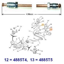 przewód hamulcowy metalowy BERLINGO tył 430mm prawy -opr09624 (oryginał Citroen)