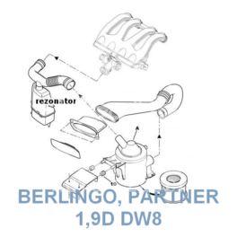 rezonator poboru powietrza Peugeot 306 1,9D DW8 CEE95 (oryginał Peugeot)