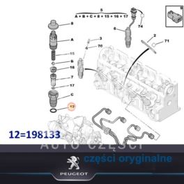 podkładka wtryskiwacza DIESEL PSA 1,9D/2,5D (pod pistolet) (oryginał Peugeot)