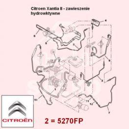 przewód LHM Citroen XANTIA/ XM zasilający 1015mm (oryginał Citroen)