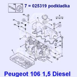 podkładka śruby pokrywy zaworów Citroen, Peugeot 1,5D TUD5 (oryginał Peugeot)