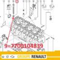 podkładka pod śrubę głowicy Renault 1,9dTi/ 1,9dCi - nowy oryginał Renault