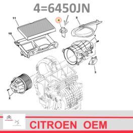 regulator nagrzew.moduł Citroen C3/ Peugeot 206 rezystor MM (oryginał Citroen)