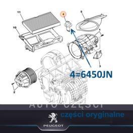 regulator nagrzew.moduł Citroen C3/ Peugeot 206 rezystor MM (oryginał Peugeot)
