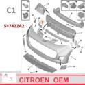 zaślepka zderzaka Citroen C1/ Peugeot 107 przód/hak srebrny - chrom - nowy zamiennik