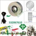 rolka napinacza pompy wody Citroen/ Peugeot 1.4-16v/1.6-16 EP... - niemiecki INA jakość oryginału