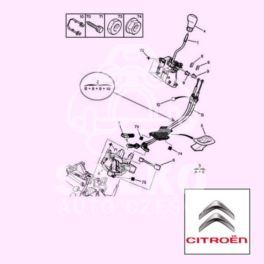 linka zmiany biegów XSARA PICASSO zestaw 2 linek (oryginał Citroen)